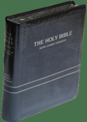 The-Holy-Bible-king james version avec parole de jesus en roug 6500